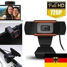 Full HD Webcam 720P Kamera USB 2.0 Mit Mikrofon für PC Laptop Computer Mac DHL