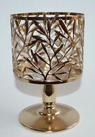 BATH & BODY WORKS BRONZE VINE LEAF PEDESTAL LARGE CANDLE HOLDER SLEEVE 14.5 OZ