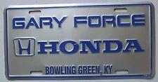 1990's GARY FORCE HONDA DEALERSHIP BOWLING GREEN KENTUCKY BOOSTER License Plate