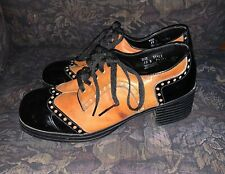Vtg 70s Disco Platform Shoes 12 D Patent Leather Pedestal Boot Rare