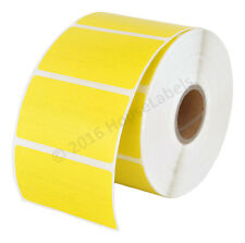 8 Rolls 8000 Labels 2.25 x 1.25 Direct Thermal Zebra YELLOW LP2824 ZP450 LP2844