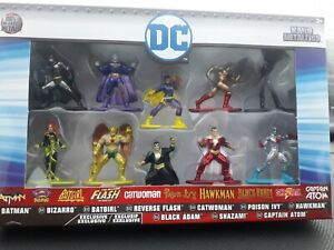 DC Nano Metalfigs Pack of 10, Includes Batman, Bizarro, Batgirl, Flash & More