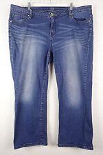 ANA A New Womens Capris Approach Blue Denim Cropped Jeans Pants Plus 20W 20