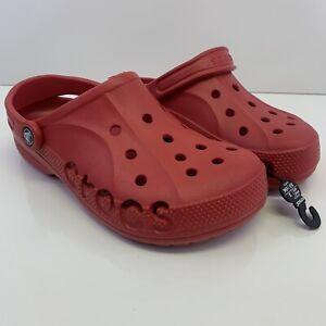 Crocs Baya Red Clogs Slip On Classics Slide Sandals Comfort 10126-6EN Unisex