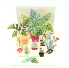 Potted Plants All Occasion Greeting Card 3D Pop Up Card Up With Paper