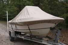 """NEW VORTEX TAN/BEIGE 17'6"""" CENTER CONSOLE BOAT COVER, FOR UP TO 54"""" TALL CONSOLE"""