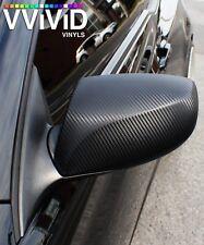 VViViD8 matte carbon fiber black 5 x 5ft Vinyl Roll wrap 3mil car 3d dry flat