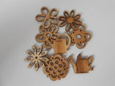 CRAFT FOR OCCASIONS WOOD FLOWERS AND WATERING CAN FOR CARDS AND CRAFTS