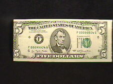 ERROR $5 FIVE DOLLAR BILL, FEDERAL RESERVE NOTE, MISALIGNMENT & MISCUT, NICE