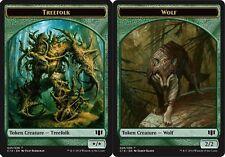 Token - Treefolk // Wolf X4 (Commander 2014) MTG (NM) *CCGHouse* Magic