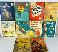 Vintage Dr. Seuss Books Lot Of 10 Hardcover Beginner Books Book Club Editions