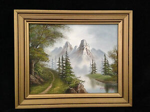 Beautiful Landscape Oil on Board Signed Lower right Manning, size 31x26cm