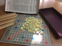 Scrabble Board Game Vintage Antique Genuine Murfett 1955 Complete Good Condition