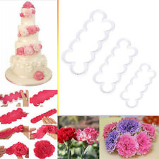 3Pcs 3D Rose Flowers Cake Chocolate Fondant Sugarcraft Molds Cutter Gum Paste