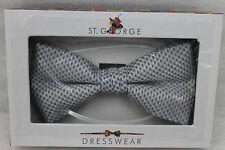 St.George Dressware Designer Papillon Argento Piccola Disegno a Quadri 430700