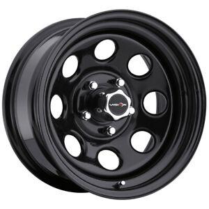 """Vision 85 Soft 8 17x8 6x5.5"""" -12mm Gloss Black Wheel Rim 17"""" Inch"""