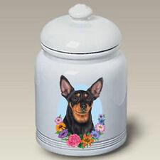 Miniature Pinscher Brown & Tan Cropped Treat Jar