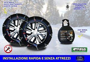 Catene da neve Peugeot 308 2007> 225 40 18 R18 per ruote grip 7 mm auto in kit