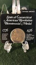 State of Connecticut American Revolution Bicentennial Medal Antique Bronze