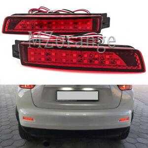 2x LED Bumper Reflector Tail Brake Light Lamp For Nissan Juke Murano Infiniti