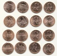 Set of All Eight 2009 P D Lincoln Bicentennial Cents From ANACS MS65+ RED Rolls