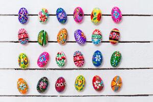 Ręcznie malowane drewniane jajko - pisanka ludowa  / Wooden Easter Egg