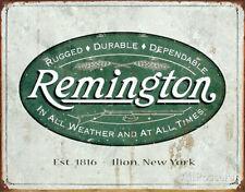 Remington Logo Vintage Replica Tin Sign - 16x12 rifle shotgun handgun hunting