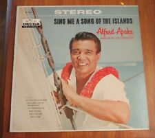 Alfred Apaka Sing Me a Song of the Islands Vinyl LP Paradise Isle Kealoha NM