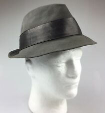 Vintage Resistol 990 Kitten Finish Self-Conforming XXX Beaver Gray Fedora Hat 7