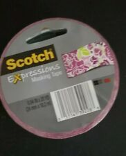 """Scotch Expressions Masking Tape, 3"""" Core, 1"""" x 20 Yd, Pink Floral"""