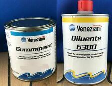 Veneziani Gummipaint + Verdünner Schlauchbootfarbe Gummifarbe 500ml + 500ml Set