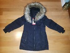NWT Diesel Kids Girl's  Size 6 Black Insulated Parka Coat Jacket Faux Fur