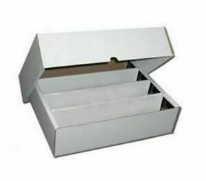 1 x Cardboard 3200ct Trading Card Storage Box with Lid - Holds up to 3200 Count