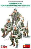 German Panzergrenadiers, WWII, Plastic model kit (4 Figures) 1/35 MiniArt  35248