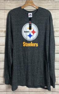 Majestic Men's Pittsburgh Steelers Long Sleeve Tee Size 2XL