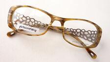 Damen-accessoires Brille Fassung Blau Seitlich Randlos Musterbügel Metall Damen Pro Design Size M Augenoptik