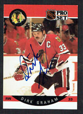 Dirk Graham #51 signed autograph auto 1990-91 Pro Set Hockey Trading Card
