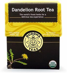 Dandelion Root Tea by Buddha Teas, 18 tea bag 1 pack