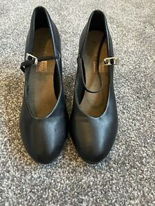 Bloch Dance Heels Black Size 8.5 Or Uk 5.5