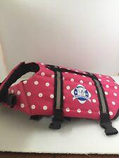 Paws Aboard Dog Swim Vest Medium Pink Polka Dot