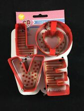 Wilton Love Metal Cookie Cutters 4 Piece Valentine's Day Wedding Party New