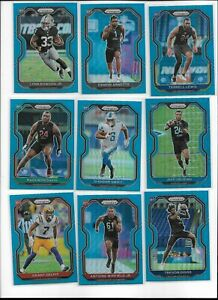 2020 Panini Prizm Football Light Blue Rookie Pick Player Complete Your Set RC