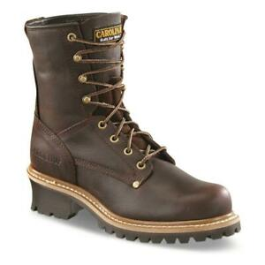 New Carolina Mens Elm Logger Work Boots, Briar Sizes 8-14