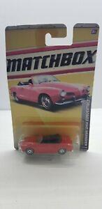 Matchbox Karmann Ghia convertible 1969 red 2010 Mattel NIB car Heritage classics