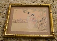 Small Bamboo Framed Oriental Print, One of a Kind Workshop