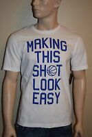 Nike MAKING THIS SHOT LOOK EASY (White) Standard Fit Men's T-Shirt Size M