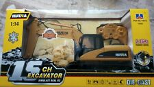 hulna 1-14 rc digger,,die cast 2.4 ghz,,,excavator,,remote control,new uk seller