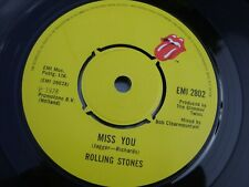 The Rolling Stones Miss You Vinyl Single 45 Record Excellent