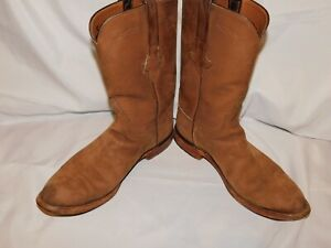 LUCCHESE BROWN SUEDE BOOTS SIZE 9 1/2D