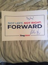 Andrew Yang Signed Autographed 11x17 Poster Politics President 2020? Proof
